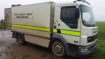 Explosive Ordnance Disposal was called to Terrington St Clement on November 30 after a marine flare washed up in wetland.
