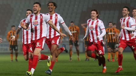 Stevenage took their place in the third round draw with victory over Hull City at the Lamex Stadium. Picture: GAVIN...