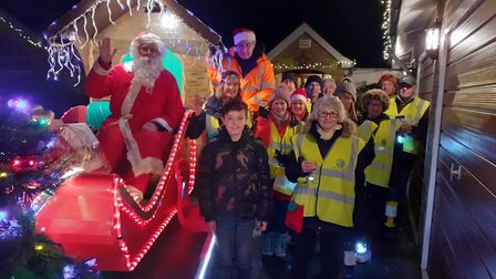 The Ramsey Rotary Club Santa float will be collecting in the area over the next few weeks.