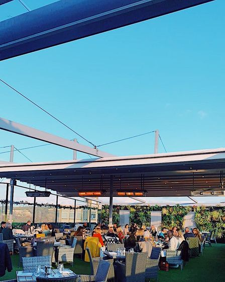 Rooftop Gardens has heaters for those sitting outside. Picture:RooftopNorwich/Instagram