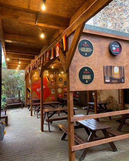The heated beer garden at The Belgian Monk in Norwich Picture: The Belgian Monk