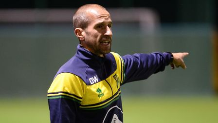 Canaries academy coach David Wright Picture: Norwich City FC