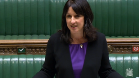 Rachel Reeves in the House of Commons