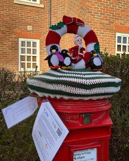 St Albans Postbox toppers have returned for Christmas.