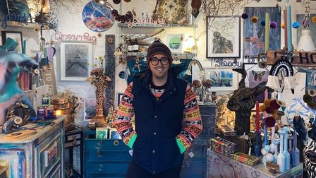 Tristan Merriam of Doghead Designs at Clevedon Craft Centre