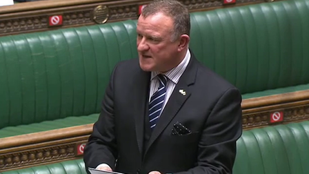 SNP MP Drew Hendry in the House of Commons