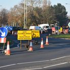 Essex And Suffolk Water are carrying out repair works close to the roundabout on Bloodmoor Road, Lowestoft with the road closed from December 8 until 11.59pm on Wednesday, December 9