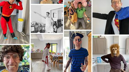 During the first lockdown, Nick Jemetta raised more than £4,000 for charity with his fancydress fundraiser. Picture: Supplied