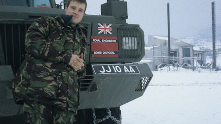 Stevenage resident John Allison poses while serving with the Royal Engineers in Bosnia in 1997. Picture: John Allison