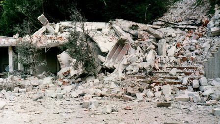 In Bosnia, John witnessed firsthand the destruction and displacement that war brings. Picture: John Allison
