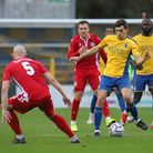 Mitchell Weiss in action for St Albans City against Hungerford Town. Picture: PETER SHORT