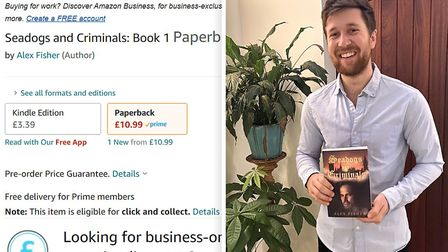 Bricklayer Alex Fisher from Gorefield has self-published his adventure book called Seadogs and Criminals which is set in...