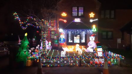 Carla Kelly and Michael Jeray decorated their house in Blake Close, Royston. Picture: Carla Kelly