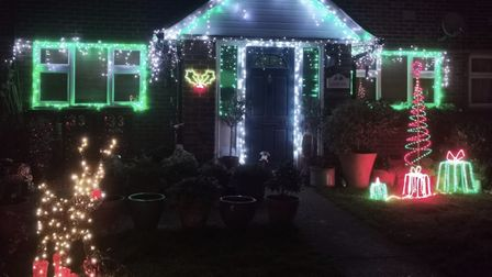 Heidi and David Cooper, who live in North Close, Royston, have put up their Christmas lights for the first time in five...
