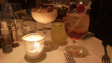 Christmas at The Ivy in St Albans. Seasonal cocktails.