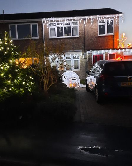 Peter Smith of Constable Avenue, in Eaton Ford, sent us this image of his display.
