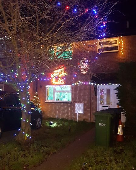 This picture was taken in Darrington Close, in Eaton Socon, St Neots.