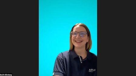 Sibylle Bliedung, early careers programme support/outreach coordinator at Airbus, spoke at the Generation Stevenage event.