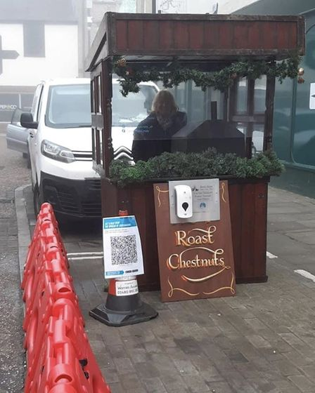 Chesnut stall in St Ives PICTURE: Huntingdonshire District Council