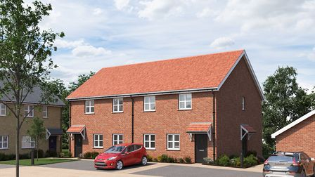Artists impression of ?100k affordable homes that are being built at Rayners Green, in Fordham. Pictures: Supplied by...