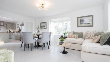 Beautiful kitchen diner in the Sycamore View show home