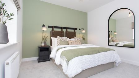 Bedroom at new Sycamore View development in Meldreth, near Cambridge