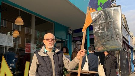 Mike Jenn, outside in the Think & Do shop last year. Picture: Stephen Evans