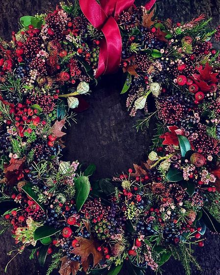 Seyah's favaourite wreath made with a mix of berries and rosemary.