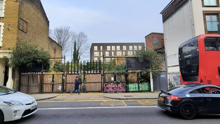 The Garden of Earthly Delights that XR set up on the derelict piece of land in Graham Road. Picture: Hackney Council