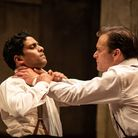 Shane Zaza and Alec Newman in Harold Pinter's the Dumb Waiter at Hampstead Theatre