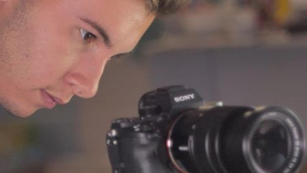 Filmmaker James Cook has been volunteering his services to help the hospice. Picture: Saint Francis Hospice