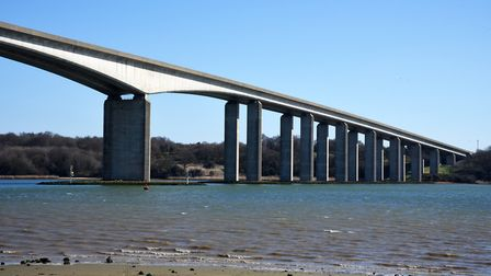 The issue of Orwell Bridge closures in high winds was raised by MP Tom Hunt in Parliament. Picture: CHARLOTTE BOND