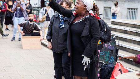 Founder of Sistah Space Ngozi Fulani speaks about premises dispute. Picture: Andy Commons
