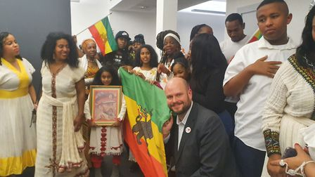 The Mayor of Hackney, Phillip Glanville, at a Sistah Space event celebrating Ethiopian Christmas earlier this year on...