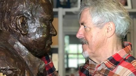 One of the items for sale is a bust of Griff Rhys Jones' famous comedy partner the late Mel Smith. Picture: NEIL DIDSBURY