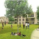 How the new homes at the old Deben High School site in Felixstowe could look - from the cricket field at the rear of the...