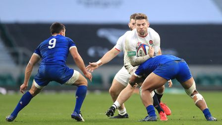 England's Elliot Daly in action during the Autumn Nations Cup match at Twickenham Stadium