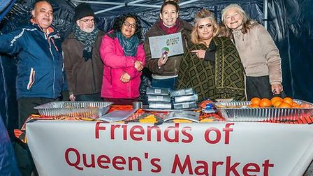 Friends of Queens Market is a grass-roots community organsiation that discusses 'threats and improvements' to the venue. Pict...