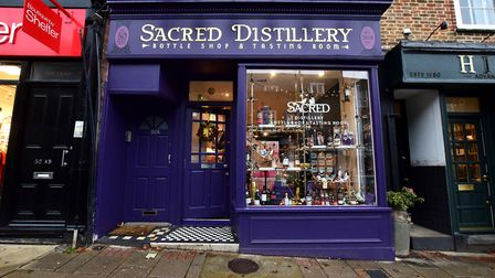 Christmas displays at local shops.