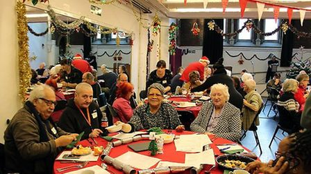 Guests at the 2019 Christmas Day event at Jacksons Lane