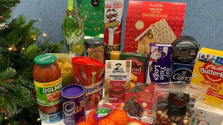 A hamper delivered by the team at Queen's Crescent Community Association. Picture: QCCA