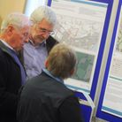 Exhibition showing plans for 560 homes, shops, care and community facilities to be built on countryside in Gulpher Road on...