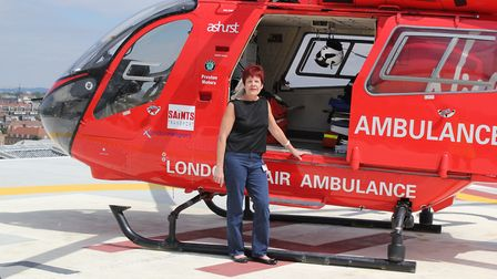 London Air Ambulance volunteer Ann Tyrrell is calling on people to back the charity's Christmas appeal. Picture: London's...