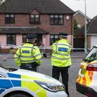 Police at the scene in Kesgrave Picture: SARAH LUCY BROWN