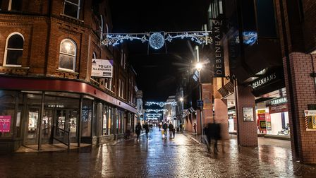 The first night of Ipswich's late night shopping post lockdown Picture: SARAH LUCY BROWN