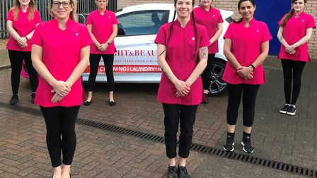 Alison Chilvers of Bright & Beautiful Ipswich with her team Picture: BRIGHT & BEAUTIFUL