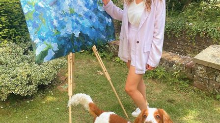 Tess Shennan is raffling her painting of Hampstead Heath to raise funds for Heath Hands conservation charity