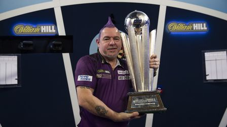 Defending William Hill PDC World Darts champion Peter Wright (Pic: Lawrence Lustig)