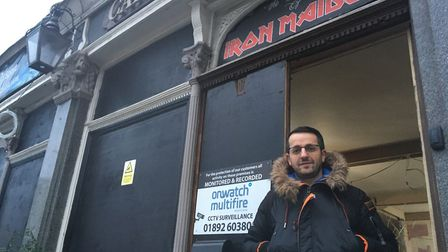 Kastro Pergjoni outside the Cart and Horses, also known as the birthplace of Iron Maiden. Picture: Jon King