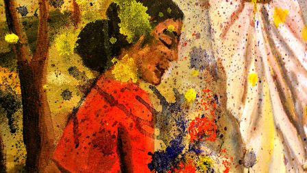 As part of the project Mukta is releasing three paintings and three short films. Picture: Mukta Chakravarty